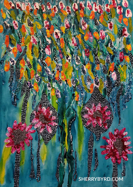 Sherry Byrd Wall Art - Painting - Weeping Willow by Sherry Byrd
