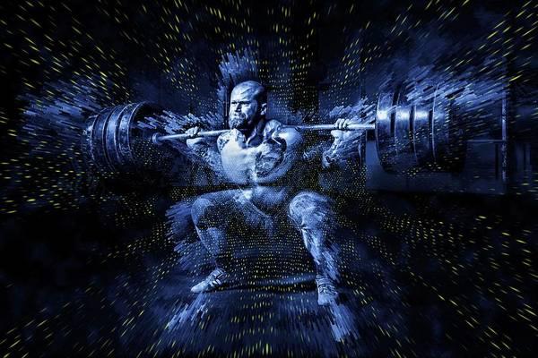 Fitness Digital Art - Weight Lifting by ArtMarketJapan