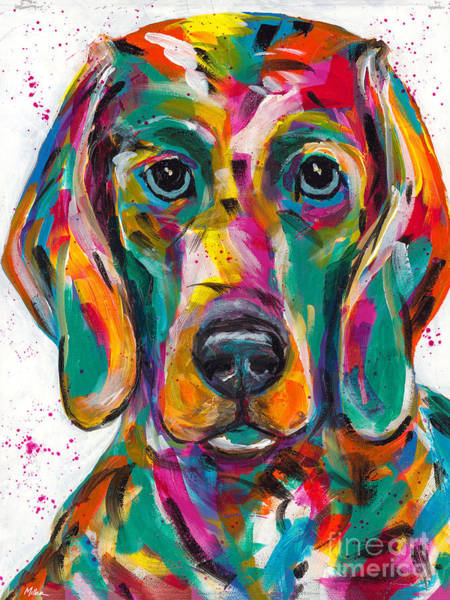 Wall Art - Painting - Weimaraner by Tracy Miller