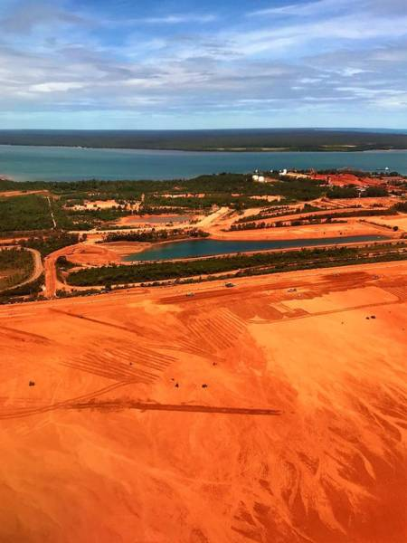 Photograph - Weipa Bauxite Mine From The Air by Joan Stratton
