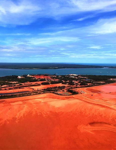 Photograph - Weipa Mine Lorim Point by Joan Stratton