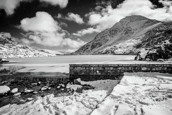 Wall Art - Photograph - Weir At Ogwen Lake Bw by Adrian Evans