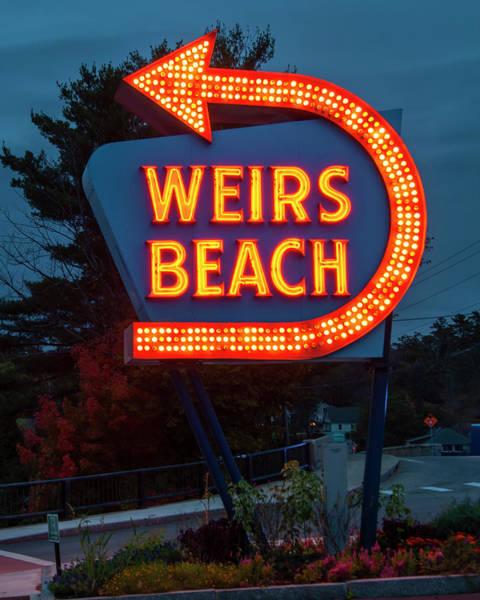 Photograph - Weirs Beach Neon Sign - Laconia, Nh by Joann Vitali