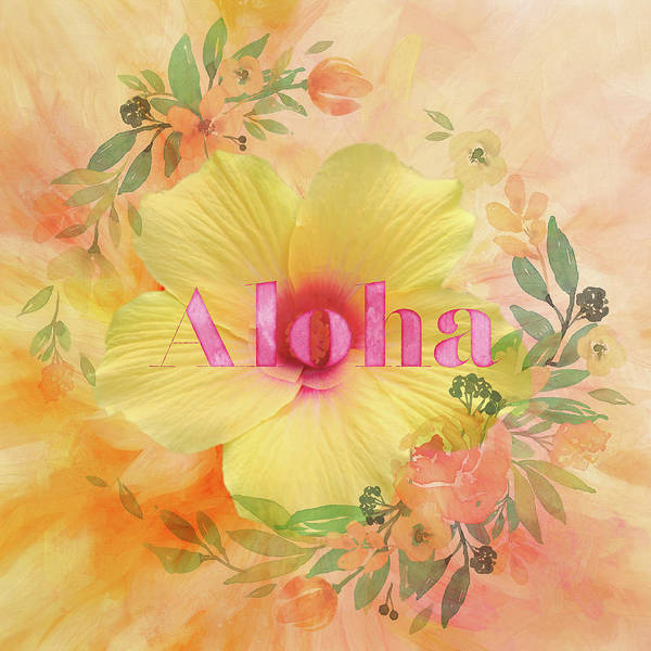 Welcome Sign Digital Art - Welcome - Aloha by Terry Davis