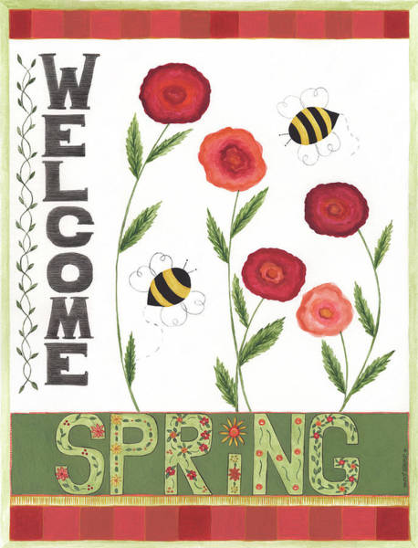 Wall Art - Painting - Welcome Spring II by Cindy Shamp