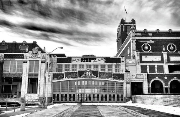 Wall Art - Photograph - Welcome To Asbury Park Monochrome by John Rizzuto