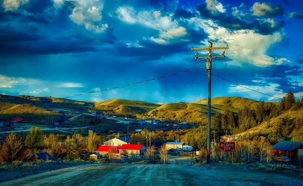 Wall Art - Photograph - Welcome To Atlantic City, Wyoming by Mountain Dreams