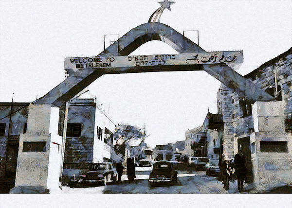 Wall Art - Photograph - Welcome To Bethlehem In 1967 by Munir Alawi
