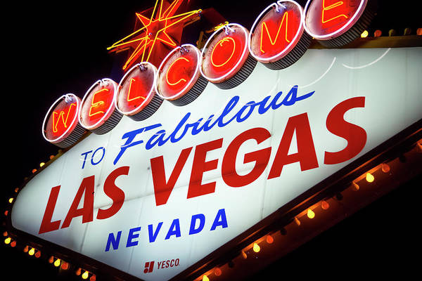 Wall Art - Photograph - Welcome To Las Vegas Sign I by Ricky Barnard