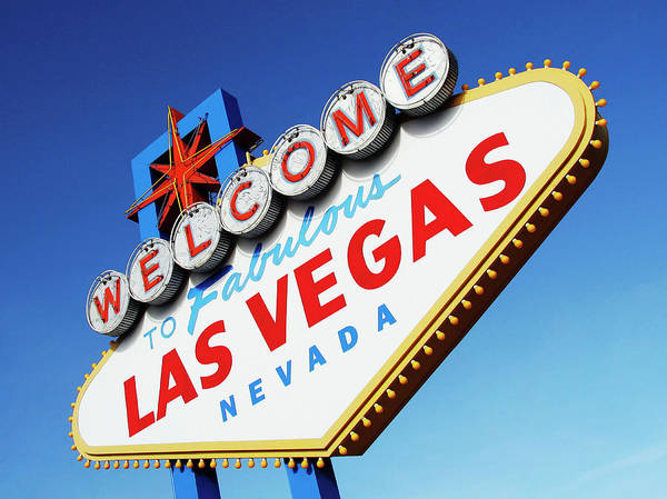 Leisure Photograph - Welcome To Las Vegas Sign, Low Angle by Steven Puetzer
