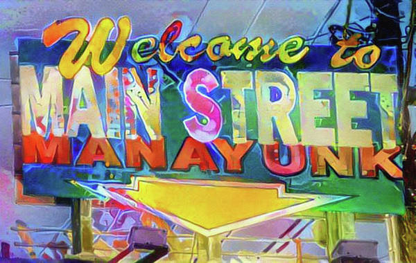 Photograph - Welcome To Manayunk - Pop Art by Bill Cannon