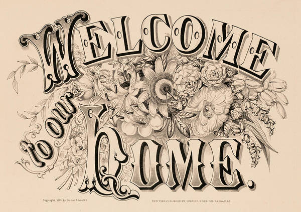 Wall Art - Painting - Welcome To Our Home, 1874 by American School