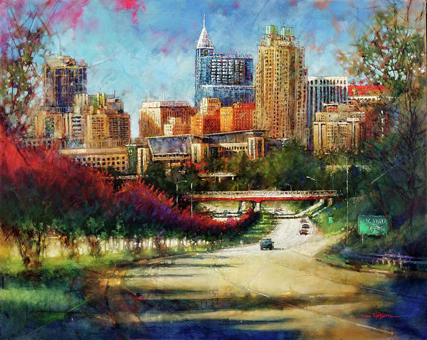 Wall Art - Painting - Welcome To Raleigh by Dan Nelson
