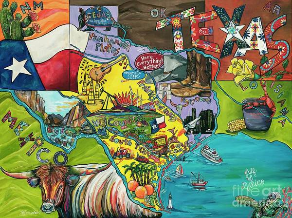 Painting - Welcome To Texas Ya'll by Patti Schermerhorn