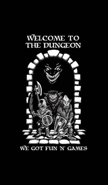 Sorcery Drawing - Welcome To The Dungeon by Hree Taro