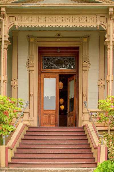 Queen Anne Style Photograph - Welcoming Entrance 0889 by Kristina Rinell