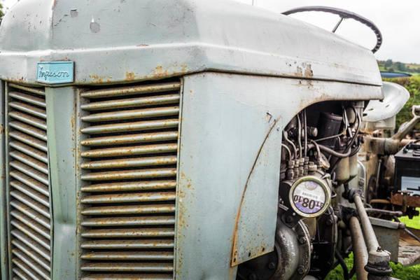 Ding Photograph - Well Worn Grey Ferguson Tractor by Richard Nixon