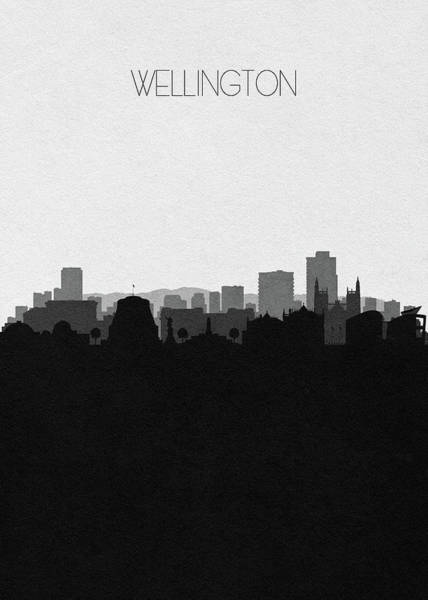 Wall Art - Digital Art - Wellington Cityscape Art by Inspirowl Design