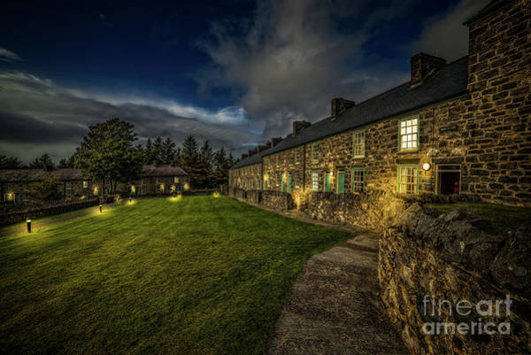 Photograph - Welsh Cottages Twilight by Adrian Evans