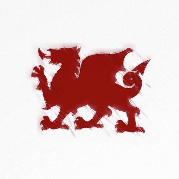 Wall Art - Painting - Welsh Dragon by Raphael Terra