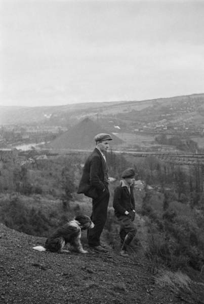 Miners Photograph - Welsh Miner And Son by Bert Hardy