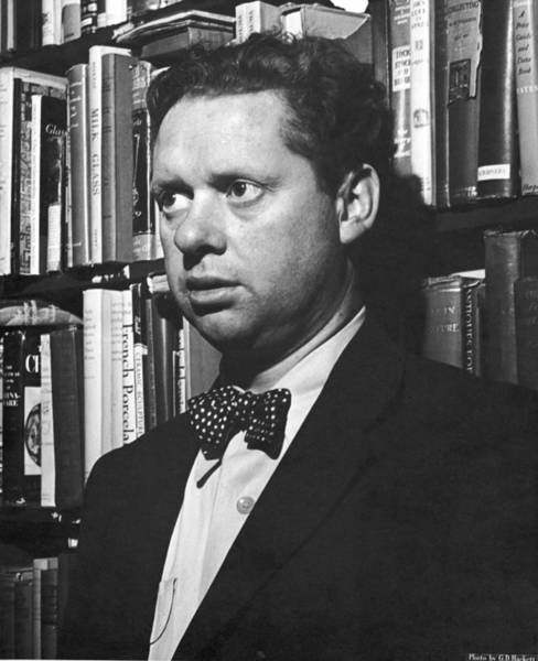 Hackett Photograph - Welsh Poet Dylan Thomas by Gabriel Hackett