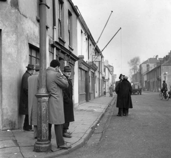Cardiff Photograph - Welsh Street Corner by Bert Hardy
