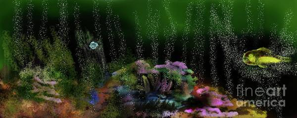 Wall Art - Digital Art - Wendy Swims For Hour's. by Julie Grimshaw