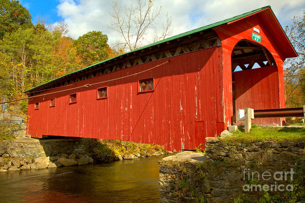 Photograph - West Arlington Covered Bridge by Adam Jewell
