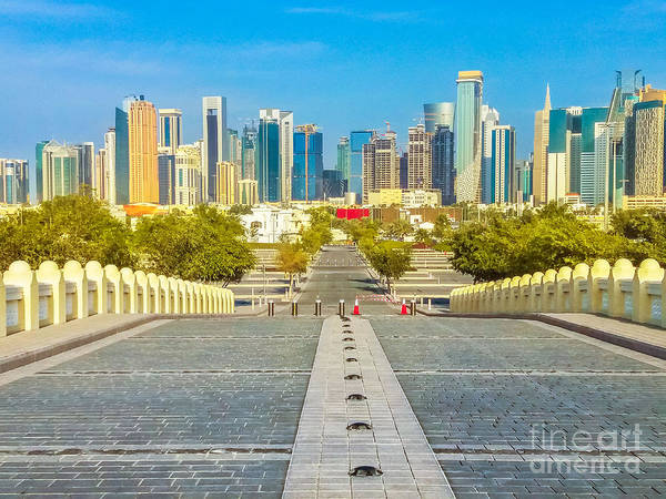 Photograph - West Bay From Doha Mosque by Benny Marty