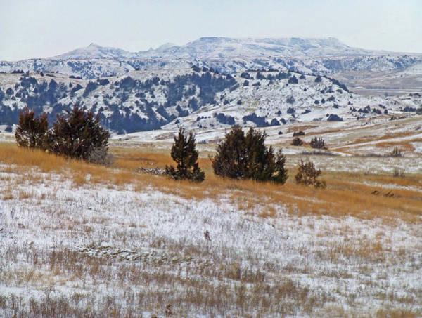 Photograph - West Dakota Winter Hills by Cris Fulton