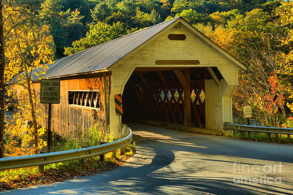 Photograph - West Dummerston Covered Bridge by Adam Jewell