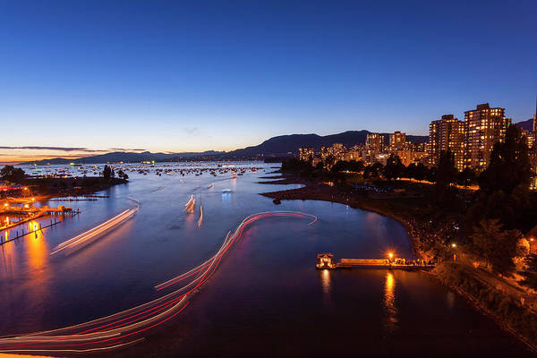 False Creek Wall Art - Photograph - West End And English Bay, Vancouver by Stuart Dee