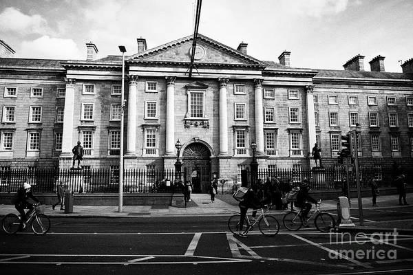 Wall Art - Photograph - West Front Gate Of Trinity College Dublin University Dublin Republic Of Ireland Europe by Joe Fox