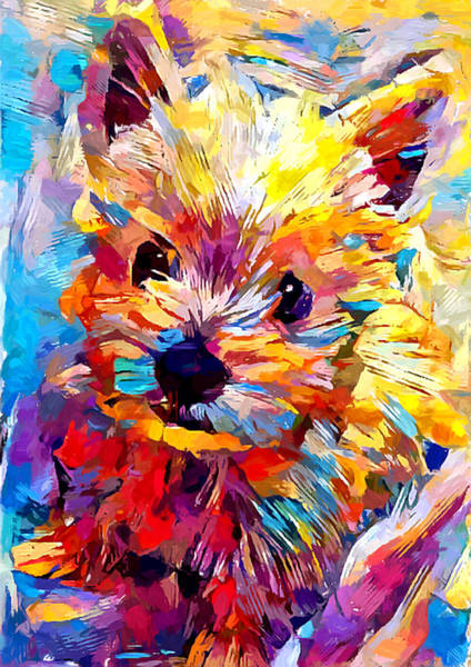Wall Art - Painting - West Highland White Terrier by Chris Butler
