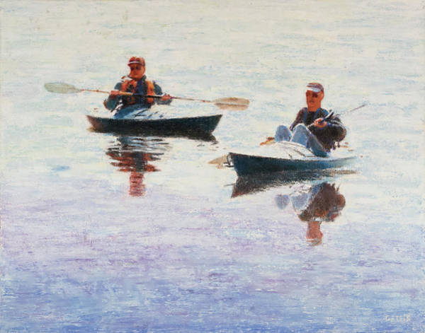 Photograph - West Hill Kayakers by Jeff Gettis