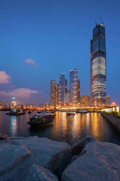 Kowloon Photograph - West Kowloon Typhoon Shelter With by Coolbiere Photograph