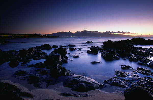 Maui Photograph - West Maui At Night Viewed From Hookipa by Karl Lehmann