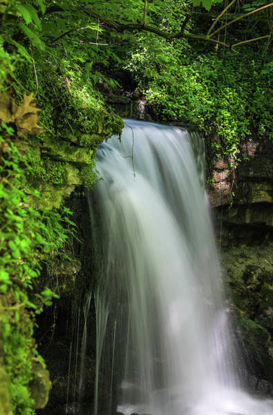 Photograph - West Milton Falls In Green by Dan Sproul