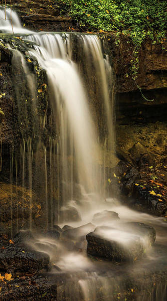 Photograph - West Milton Falls Vertical by Dan Sproul