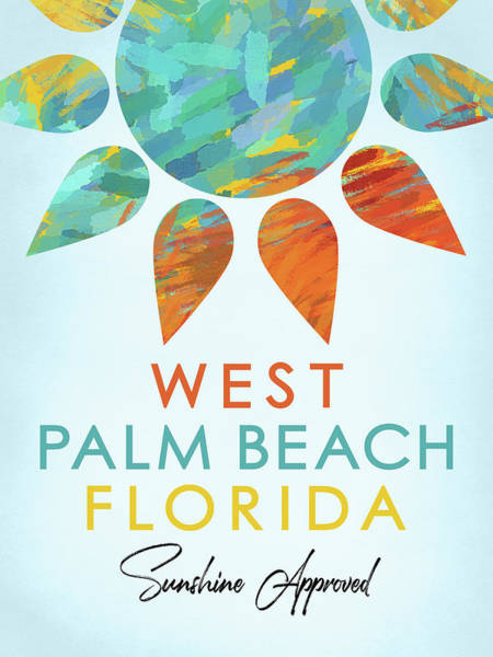 Wall Art - Digital Art - West Palm Beach Florida Sunshine by Flo Karp