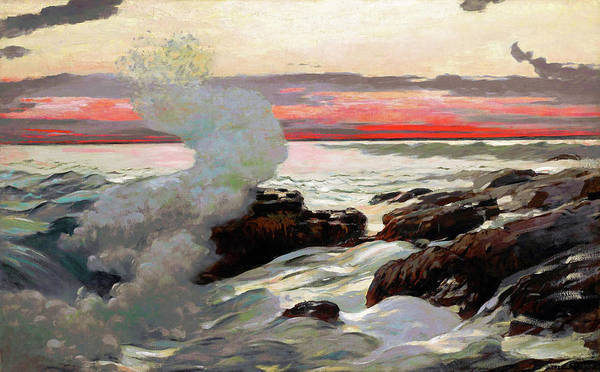 Wall Art - Painting - West Point, Prout's Neck - Digital Remastered Edition by Winslow Homer