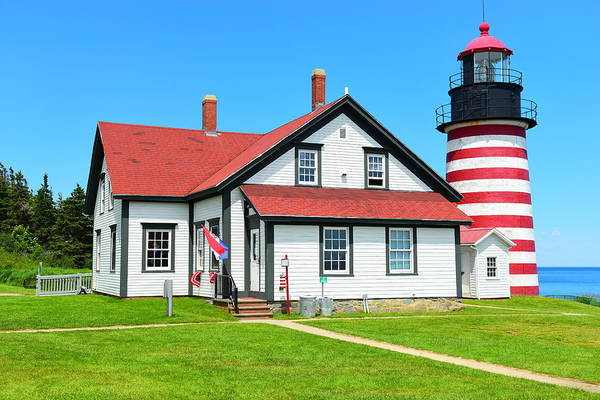Wall Art - Photograph - West Quoddy Head Light by Catherine Reusch Daley