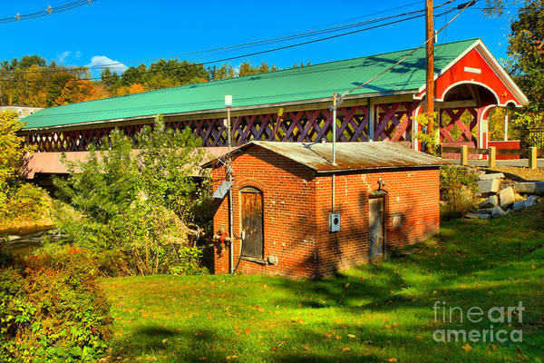 Photograph - West Swanzey Covered Bridge by Adam Jewell