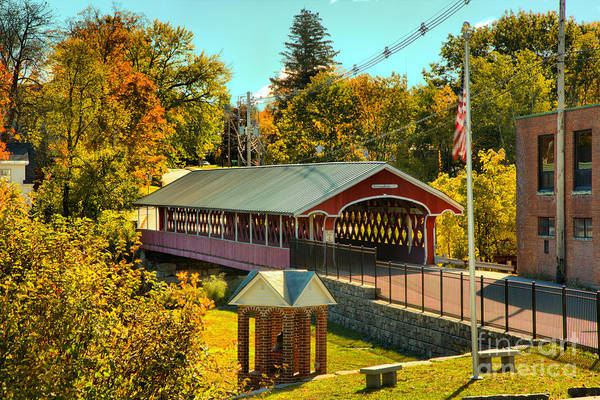 Photograph - West Swanzey Main Street Covered Bridge by Adam Jewell