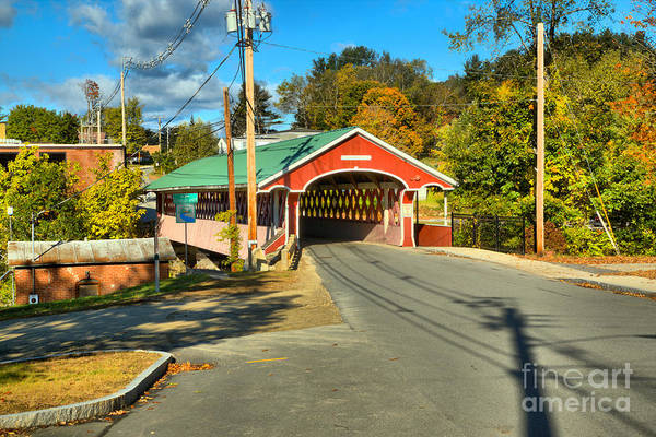 Photograph - West Swanzey Thompson Covered Bridge by Adam Jewell