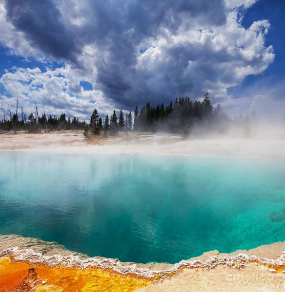 Travel Destinations Wall Art - Photograph - West Thumb Geyser Basin In Yellowstone by Galyna Andrushko