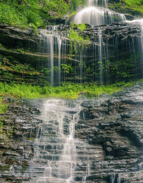 Photograph - West Virginia Summer Waterfall by Dan Sproul