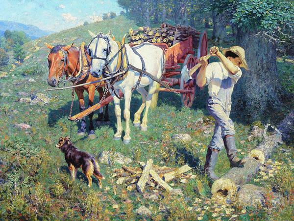Wall Art - Painting - West Virginia Woodchopper, West Virginia Farm Boy, 1903 by William Robinson Leigh