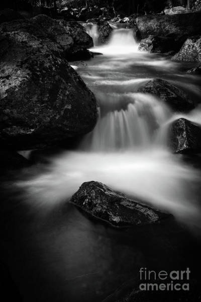 Wall Art - Photograph - West Warner Branch Waterfall by Edward Fielding